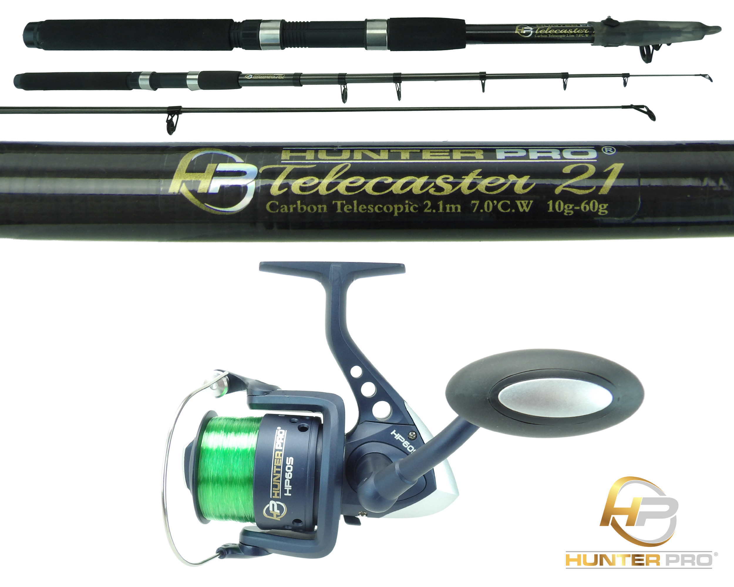 telescopic 6ft 7ft fishing rod & reel carbon travel pike bass, Fishing Reels