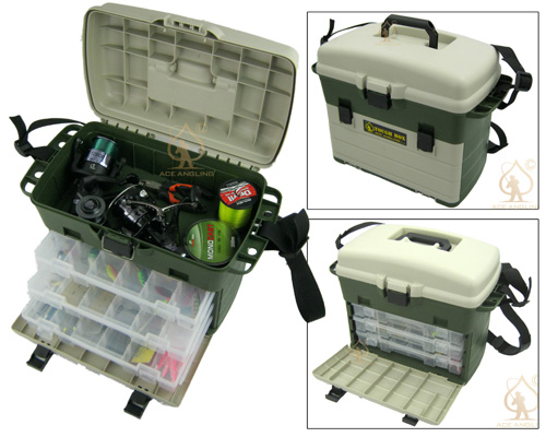 large fishing tackle box can be used as seat box carp